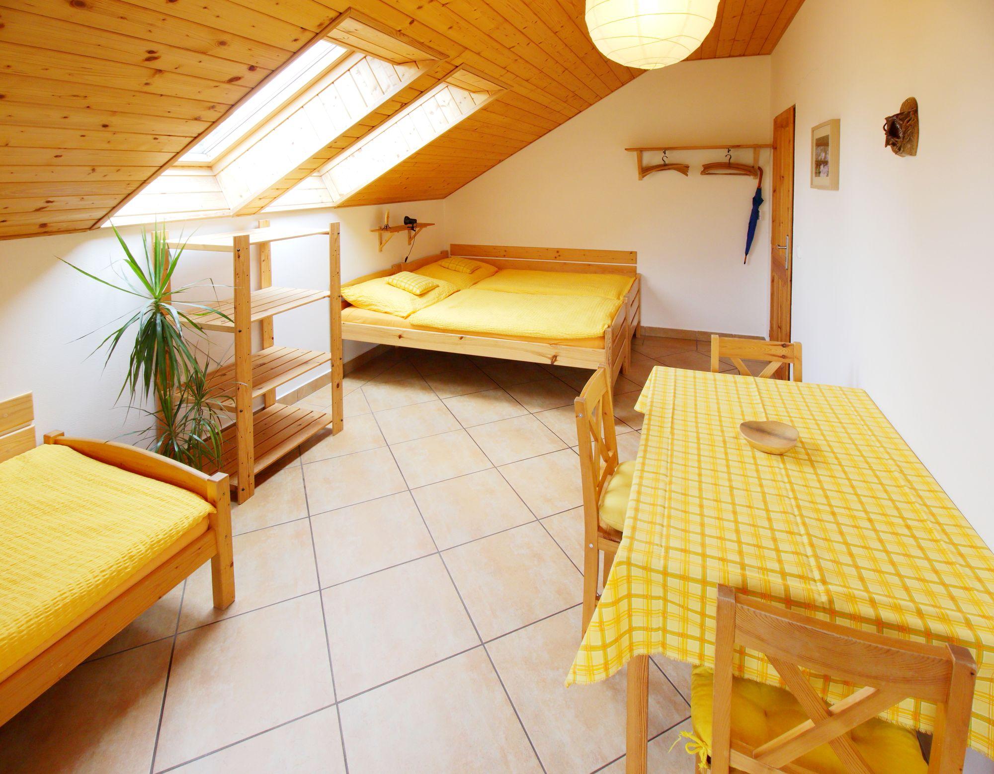 Ložnice apartmánu 3 - podkroví